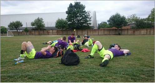 Tired Footballers